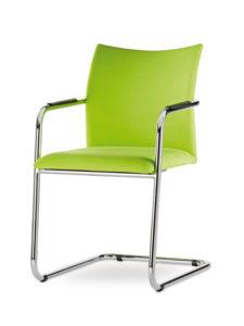 dama-3-4-delante-patin-cromado-tapizada-verde
