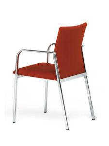 dama-3-4-detras-tapizada-roja-patas-cromadas