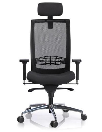 Kind-Top, malla negra, con cabezal, base aluminio